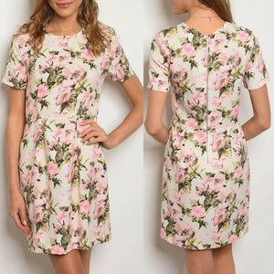 Ivory Floral Dress {Le Lis}
